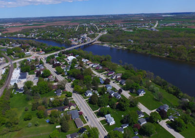 wrightstown river trail, Residential neighborhoods, aerial photos of the fox river, fox river wi,fox river arial photo